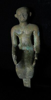 Zurqieh -As5468- Ancient Egypt. Bronze Statue Of A Priest.  600 - 300 B.c