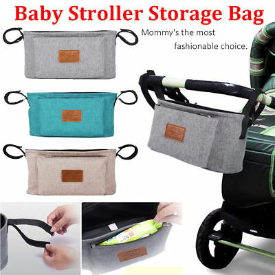 Baby Stroller Organizer Storage Bag Baby Carriage Pram Buggy Cart Bottle Bag New