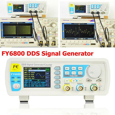 FY6800-60M DDS Signal Generator 0.01-100MHz Function Arbitrary Waveform Pulse UK