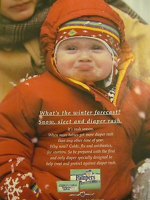 Pampers Diapers, Full Page Vintage Print Ad
