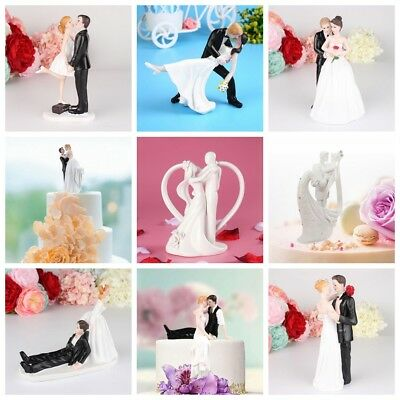 Romantic Funny Wedding Cake Topper Figure Bride Groom Couple Bridal-Decoration