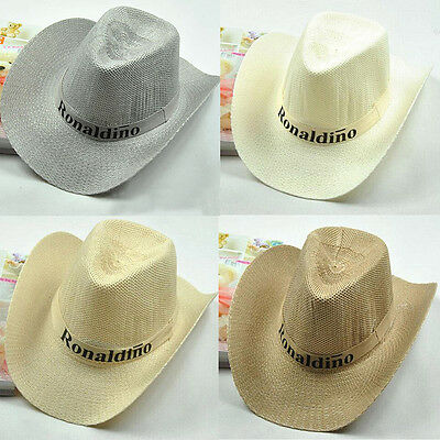 The Western Cowboy Hat Both Men and Women Big Hat The Beach Sun Hat Nice Su B4T1