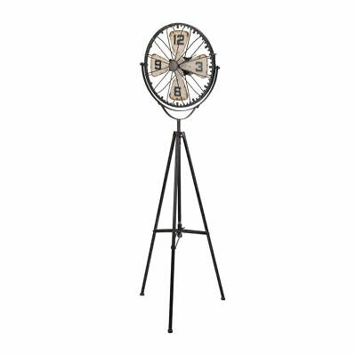 Floor Clock Vintage fan-look Industrial Design