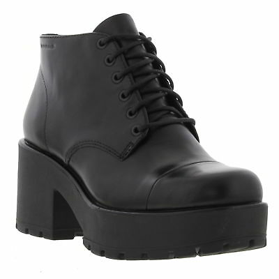 961af556726 VAGABOND DIOON WOMENS Ladies Leather Chunky Platform Ankle Boots ...