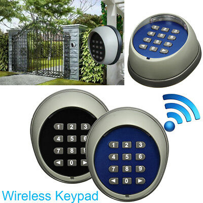 Plastic Backlight Wireless Keypad 433 MHz in Metal Box for ALEKO Gate Openers