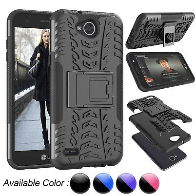 For LG X Charge / Fiesta LTE / X Power 2 Hybrid Case Kickstand Hard Case Cover