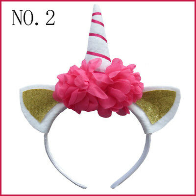 "10 BLESSING Good Girl DIY  6"" Unicorn Hair Bow Pony Headband"