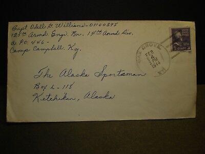 APO 446 CAMP CAMPBELL, KENTUCKY 1944 WWII Army Cover 14th ARMORED Officer's Mail
