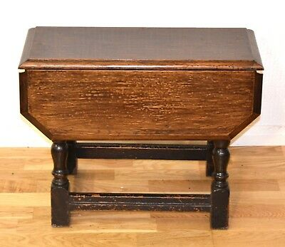 Vintage Antique Small Drop Leaf Swivel Coffee Table Side Table - 3520