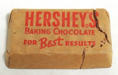 ESZ5209. Antique HERSHEY'S Baking Chocolate Sample Pack Bar in Wrapper (1930's)