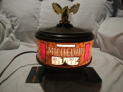 Michelob Beer Electric Clock & Light In Good Working Condition Vintage Tested