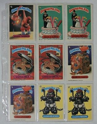 ESZ5404 VINTAGE Set of 9: GARBAGE PAIL KIDS Sticker Cards 322B-326B Topps (1987)