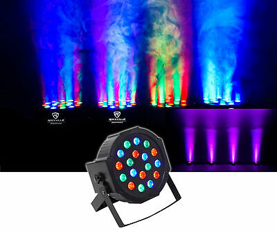 Rockville RockPAR50 LED RGB Compact Par Can DJ/Club DMX Wash Light+Dual Bracket