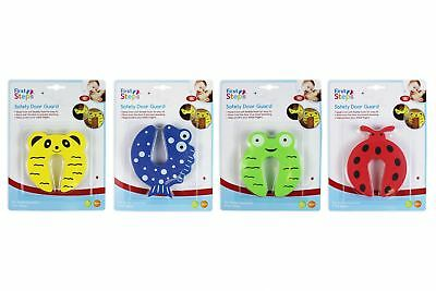 Child Safety Door Stop Stopper Animal Hinge Cushion Finger Protector Pack of 4