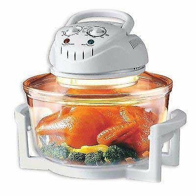 12L Halogen Oven Premium Convection Cooker White 1400w Portable Kitchen Cookware