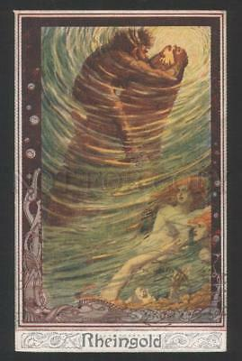 119278 WAGNER OPERA Mermaid RHEINGOLD by STRASSEN Vintage PC