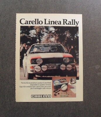 Pubblicita / Advertising 1981 - CARELLO LINEA RALLY ,TEST. AUDI #T271