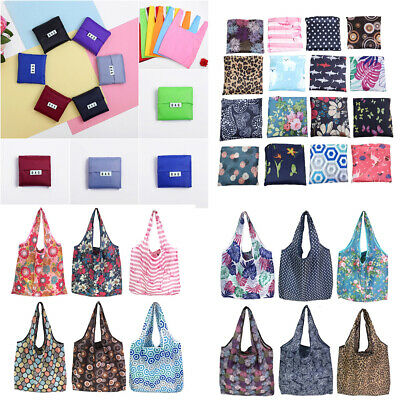 Eco Friendly Reusable Foldable Shopping Bags Storage Handbag Tote Folding Pouch