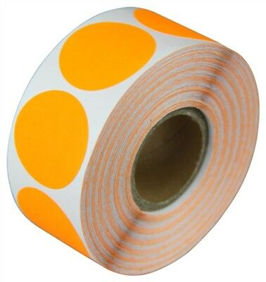 "2"" Adhesive Code Orange Dot Inventory Labels Coding Dots Stickers (300 Per Roll)"