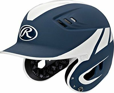 Rawlings R16A2S-MN/W Senior Baseball R16 Away Sized Helmet, Navy
