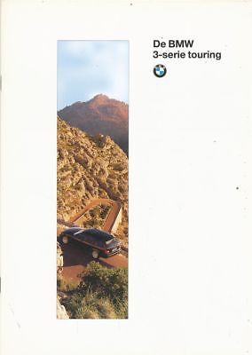 Catalogue Voiture Pub. Auto Ad.car De Bmw 3-Serie Touring 1996 En Neerlandais