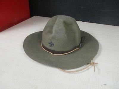 Vtg Boy Scouts Of America Official Hat Oval 6 7/8 Campaign