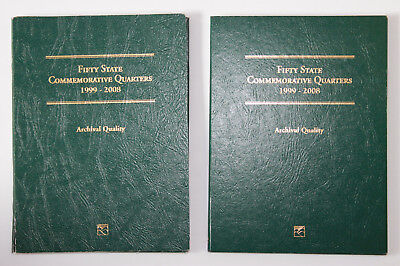 USA 2 x 50 State Quarters 1999-2008 D-P in Littleton Folders Archival Quality B2