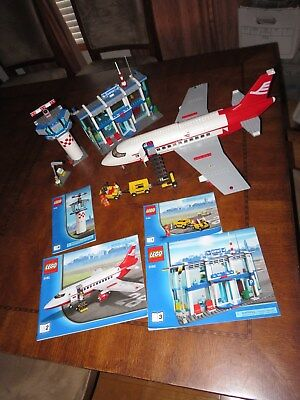 Lego Airport Airplane 3182 Control Town City Wt Instructions And