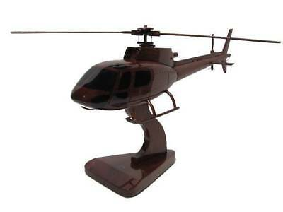 Eurocopter Ecureuil AS350 AS-350 Astar A-star Wood Wooden EMS Helicopter Model