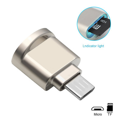 Mini Protable Micro USB OTG TF Micro SD Card Reader Adapter For Android Phones