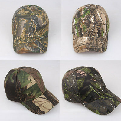 TACTICAL BASEBALL CAMO CAP Army HUNTING HIKING HATS WAR GAME Camouflage Sniper L