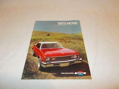 1973 Chevrolet Chevy Nova Custom Sales Brochure Original