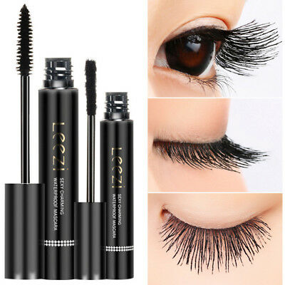 2018 4D Silk Fiber Eyelash Mascara Extension Makeup Black Waterproof Eye Lashes