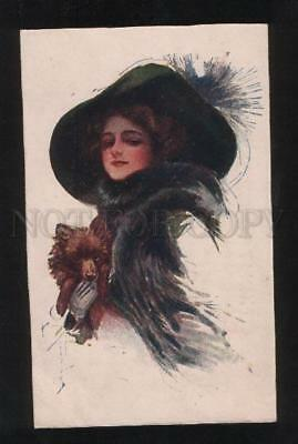 059924 Lady SPITZ to Walk by FISHER Old Ogonek RUSSIA RARE