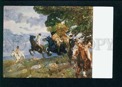 075017 WITCHES Amazons on HORSES by ETTORE TITO vintage