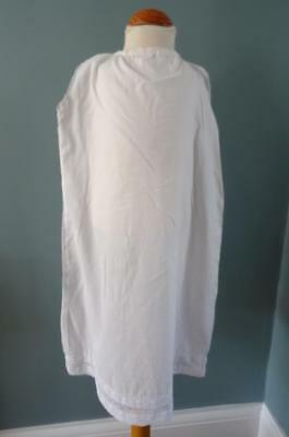 Antique Victorian Young Girl's Petticoat - White Cotton, Embroidered & Lace