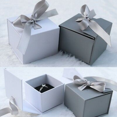 Ribbon Bow Gift Boxes Case For Bangle Jewelry Ring Earrings Wrist Watch Box