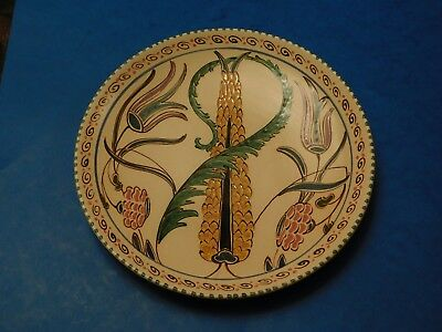 Honiton Pottery Plate Unusual Persian Design Collard Or Post-Collard? Devon