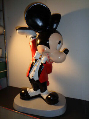 "Rare Mickey Mouse Life Size  Butler Statue in Original Box  (30 by 18 by 11"")"