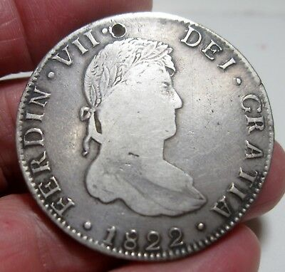 1822 Ga-JM (MEXICO) 8 REALES (GUANAJUATO) WAR of INDEPENDENCE --very rare----