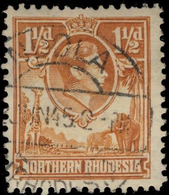 Northern Rhodesia - 1945 - Sg30 Cancelled Ndola Double Circle Date Stamp