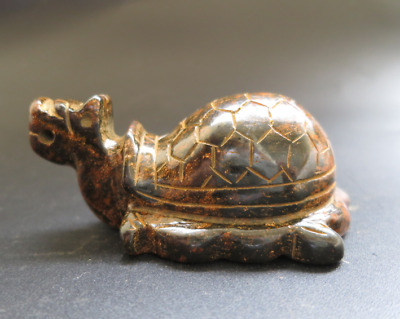 Old China HongShan culture jade hand-carved tortoise statue pendant Y3486