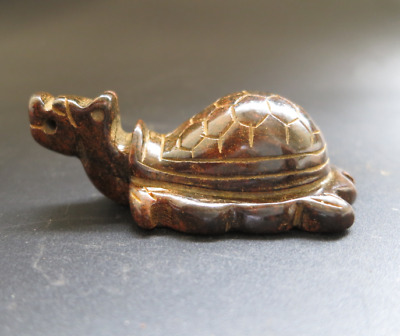 Old China HongShan culture jade hand-carved tortoise statue pendant Y3487