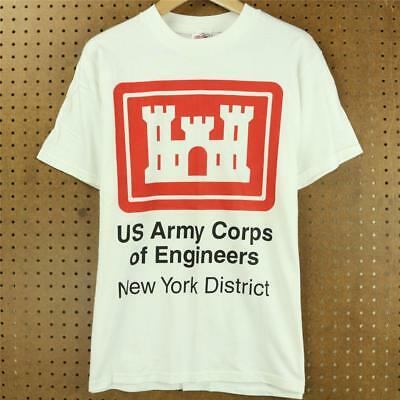 vtg 90's US ARMY CORPS OF ENGINEERS new york district t-shirt MEDIUM