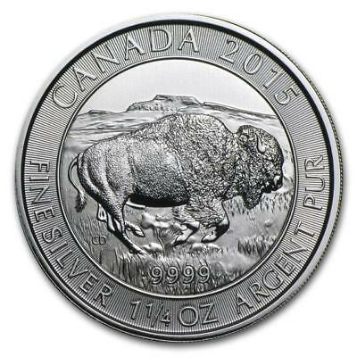 Canada - 2015 Animal Series - BISON 1.25 oz. .9999 Silver Maple Leaf $8 Coin