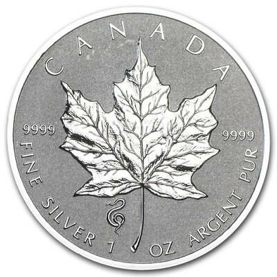 Canada - 2013 CANADA $5 Snake Privy Mark Silver Maple Leaf 1 oz Reverse proof