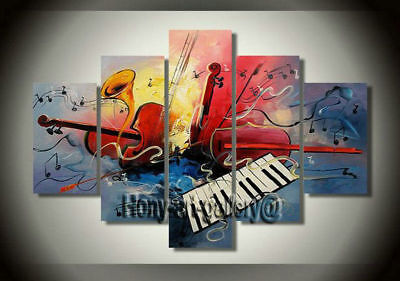 Large Modern Music ABSTRACT OIL PAINTING Canvas Living Room Wall Art Decor mus07