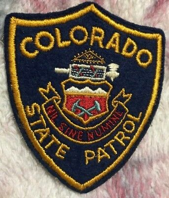"""vintage """"COLORADO STATE PATROL"""" PATCH co LAW ENFORCEMENT OFFICER police FELT WOW"""