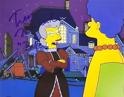 TRESS MacNEILLE signed THE SIMPSONS / BELLE rare photograph - REAL! PIC PROOF!