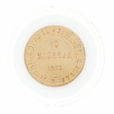 1882 Authentic 10 Markkaa Finnish Coin - 900 Gold Finland Imperial Russia